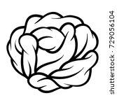 flower rose  black and white....   Shutterstock .eps vector #729056104