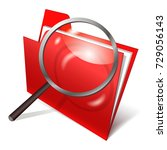 search of data  icon folder on... | Shutterstock .eps vector #729056143