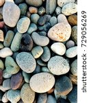 Large Colored Dry Pebbles On...