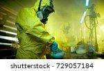 in the underground drug...   Shutterstock . vector #729057184