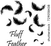 black feathers | Shutterstock .eps vector #729058438