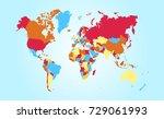 color world map   Shutterstock .eps vector #729061993