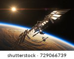 international space station and ... | Shutterstock . vector #729066739