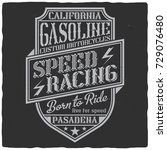 vintage label design with... | Shutterstock .eps vector #729076480