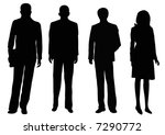 three businessmen and one... | Shutterstock . vector #7290772