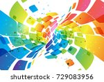colorful abstract background ... | Shutterstock .eps vector #729083956