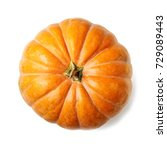 Fresh Orange Pumpkin Isolated...