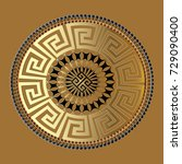 mandala. ancient geometric... | Shutterstock .eps vector #729090400