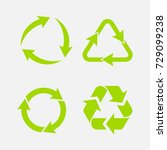 recycling symbol of... | Shutterstock . vector #729099238
