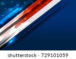 flag of usa america background... | Shutterstock .eps vector #729101059