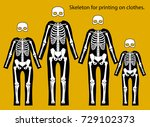 skeleton costume. skeleton for...   Shutterstock .eps vector #729102373
