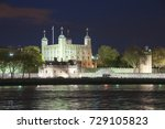 tower of london at night  great ... | Shutterstock . vector #729105823