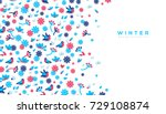 horizontal banner with winter... | Shutterstock .eps vector #729108874