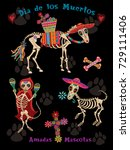 day of the dead honoring pets | Shutterstock .eps vector #729111406
