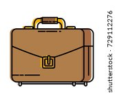 portfolio briefcase isolated... | Shutterstock .eps vector #729112276
