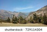hilly landscape | Shutterstock . vector #729114304