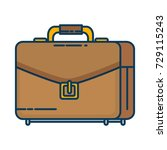 portfolio briefcase isolated... | Shutterstock .eps vector #729115243