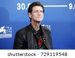 Small photo of VENICE, ITALY - SEPTEMBER 05: Jim Carrey attends the photo-call of the movie 'Jim & Andy' during the 74th Venice Film Festival on September 5, 2017 in Venice, Italy.