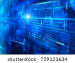 stand with server hardware and... | Shutterstock . vector #729123634