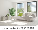 idea of white room with sofa... | Shutterstock . vector #729125434