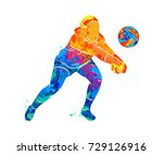 abstract volleyball player... | Shutterstock .eps vector #729126916