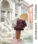 close up image of a gelato cone ... | Shutterstock . vector #729133063