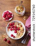 healthy breakfast. fresh... | Shutterstock . vector #729141760
