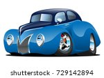 classic street rod coupe custom ... | Shutterstock .eps vector #729142894