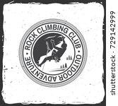 rock climbing club badge.... | Shutterstock .eps vector #729142999