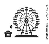 black ferris wheel with cash... | Shutterstock . vector #729144676
