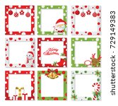 christmas border frame picture... | Shutterstock .eps vector #729149383