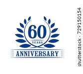 60 years anniversary logo... | Shutterstock .eps vector #729150154