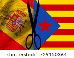 spanish flag and the... | Shutterstock . vector #729150364
