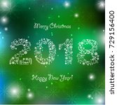 happy new year background.... | Shutterstock . vector #729156400