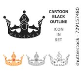 crown icon in cartoon style... | Shutterstock . vector #729157480
