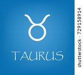 taurus zodiac sign icon. vector ... | Shutterstock .eps vector #729158914