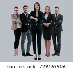 group of smiling business... | Shutterstock . vector #729169906