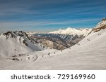 winter mountain landscape   ski ... | Shutterstock . vector #729169960