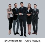 group of smiling business... | Shutterstock . vector #729170026