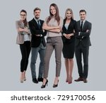 group of smiling business... | Shutterstock . vector #729170056