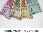 new indian currency isolated ... | Shutterstock . vector #729170638