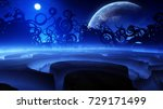 strange and beautiful concept... | Shutterstock . vector #729171499
