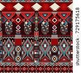 geometric ornament for ceramics ... | Shutterstock .eps vector #729175618