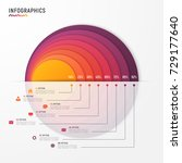 vector circle chart infographic ... | Shutterstock .eps vector #729177640