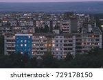 dormitory buildings in a...   Shutterstock . vector #729178150