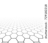 hexagonal grid in perspective.... | Shutterstock .eps vector #729182218