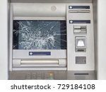 Broken Atm With Broken Glass....