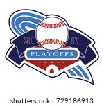 playoff logo   a logo to be... | Shutterstock .eps vector #729186913