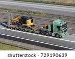 heavy load truck hauls big...   Shutterstock . vector #729190639