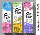 fastfood colorful modern... | Shutterstock .eps vector #729191608